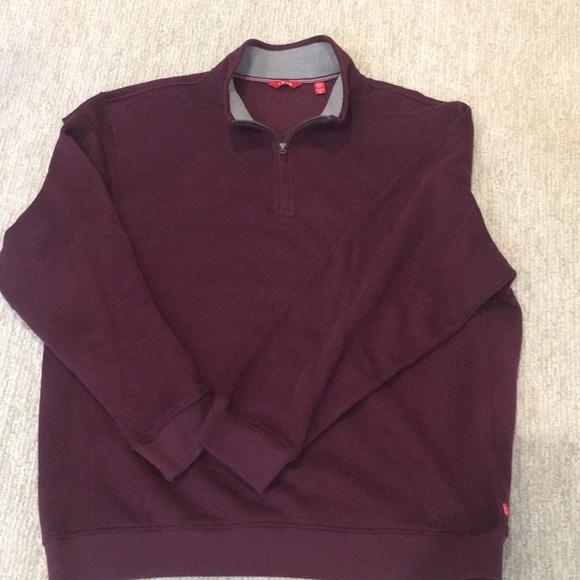 Izod Other - IZOD Men's Fleece 3/4 Zip Burgundy Pullover, XXL